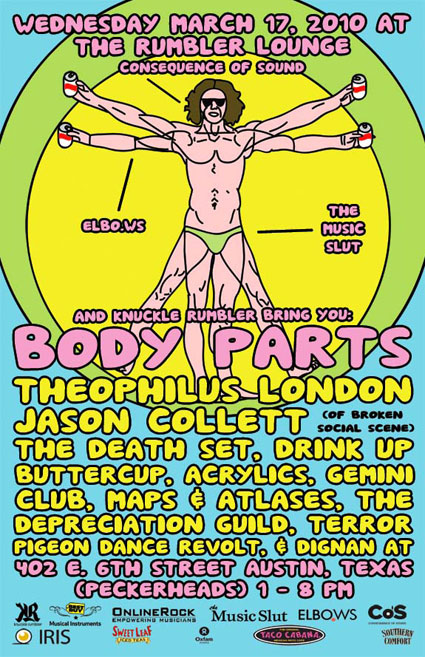 Body Parts w/ The Music Slut, Consequence of Sound, Elbo.ws and Knuckle Rumbler